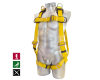 Confined space harness covered with polyurethane