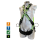 Cross-style safety harness