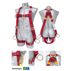 H-style positioning safety harness 1