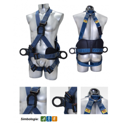 Climbing and lowering harness Kevlar® cushioned dielectric 1